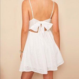 White embroidery eyelet dress